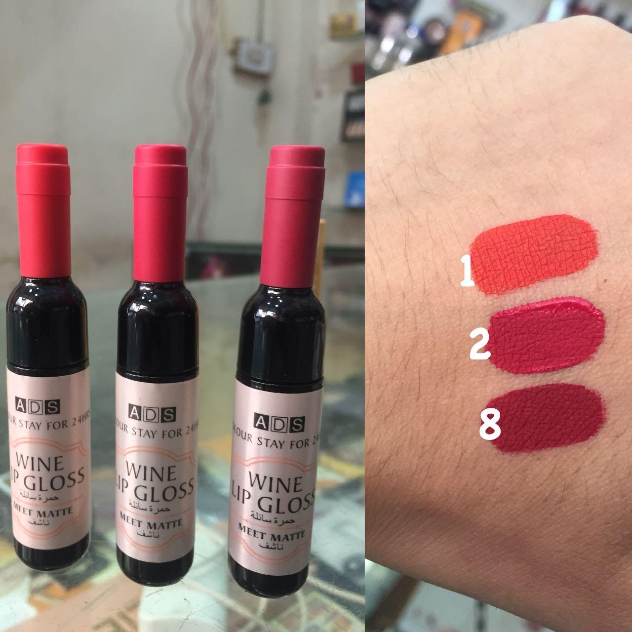 ADS wine matte lipgloss - 01, 02, 08