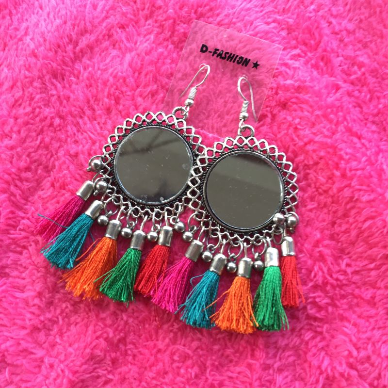 Mirror colorful hook Earring