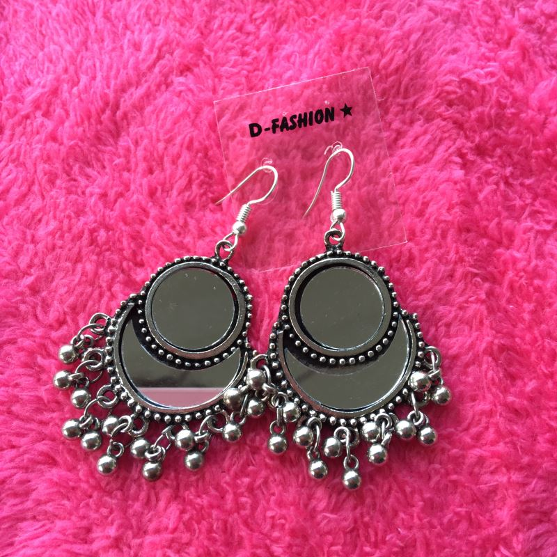 Double mirror earring