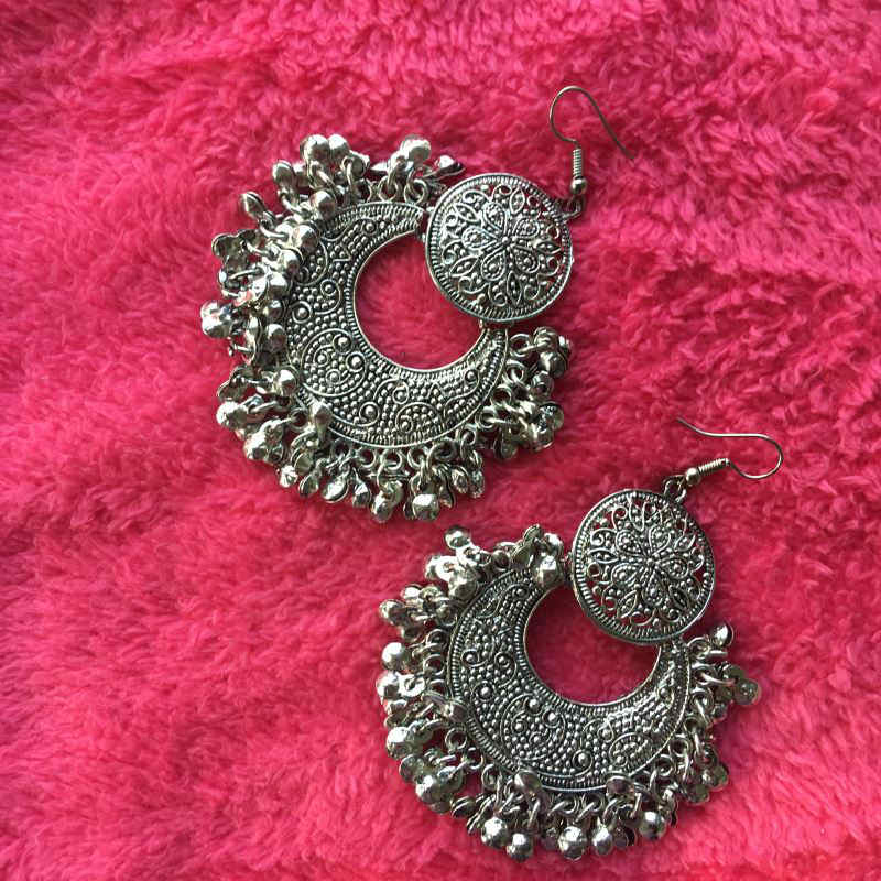 Big double dangle earring
