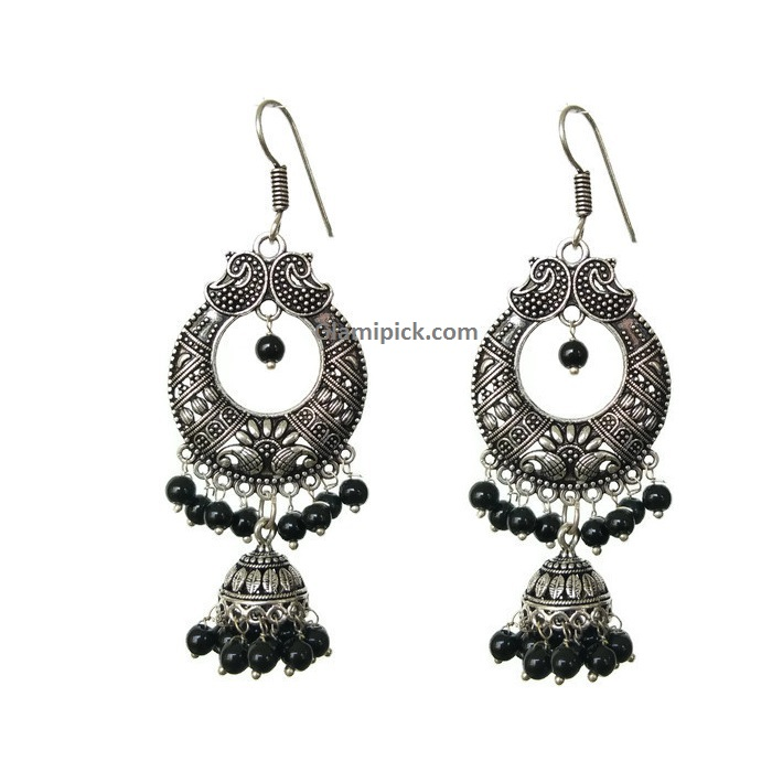 Chandbali earing - Black
