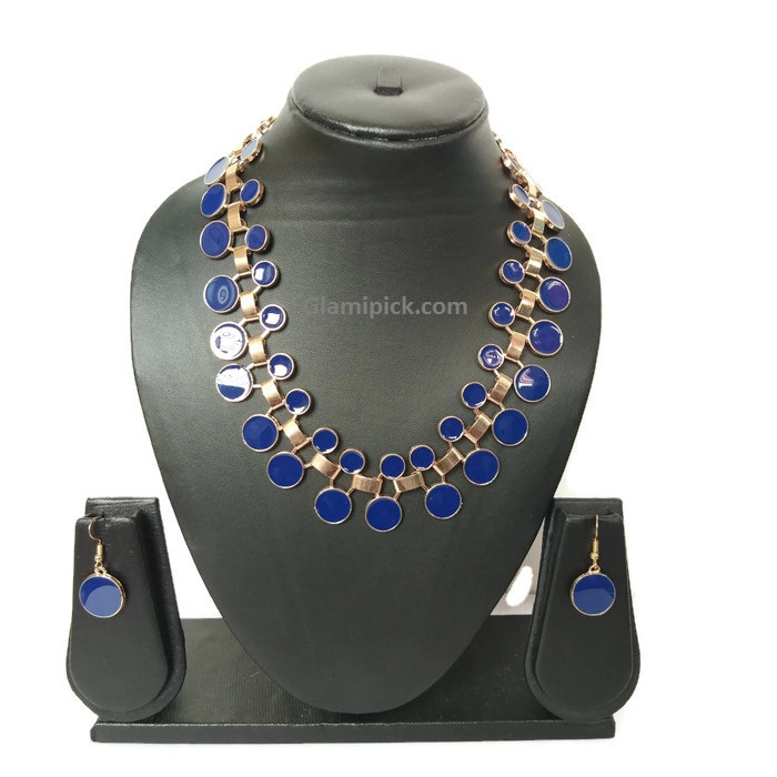Navy Blue Necklace set