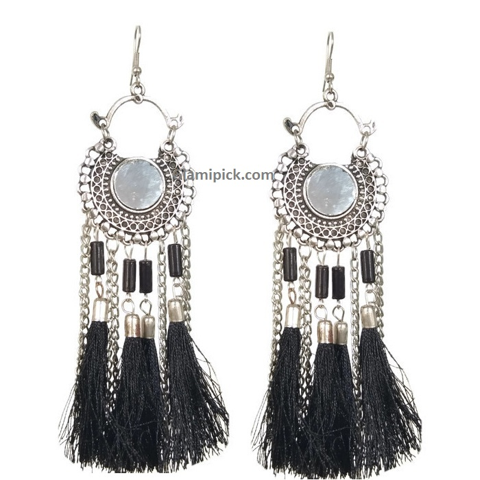 Fringes Tassel Dream catcher Earrings