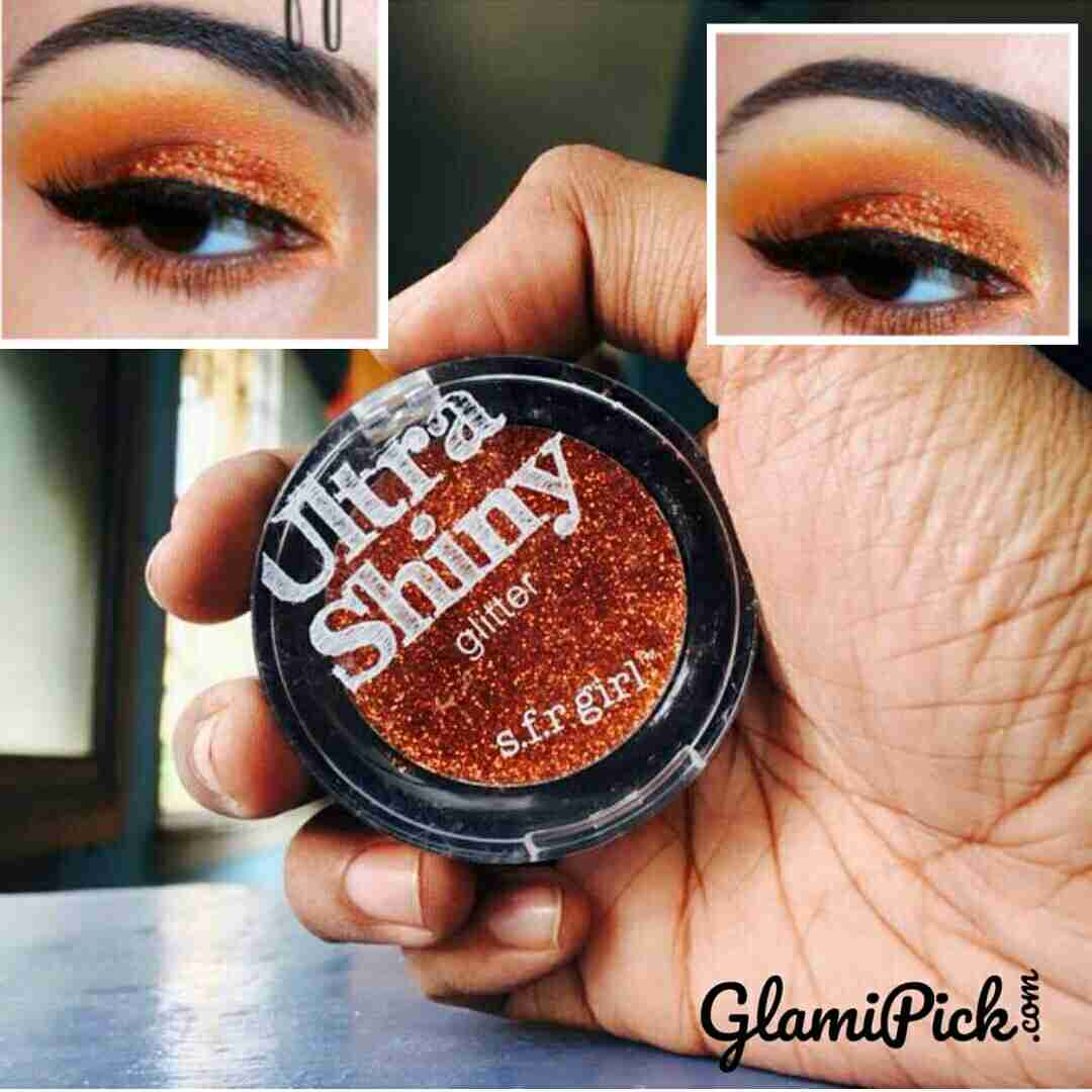 SFR Girl Ultra shinny Glitter Eyeshadow Orange
