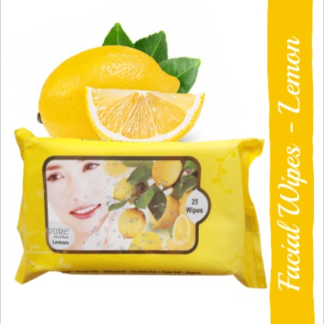Pure Refreshing Face Wipes - Lemon