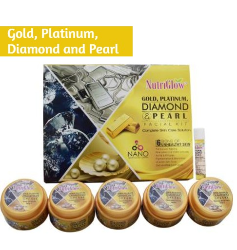 NutriGlow Gold, Platinum, Diamond and Pearl Facial Kit