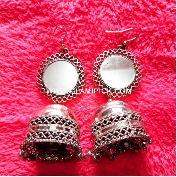 Mirror Jhumki Earring