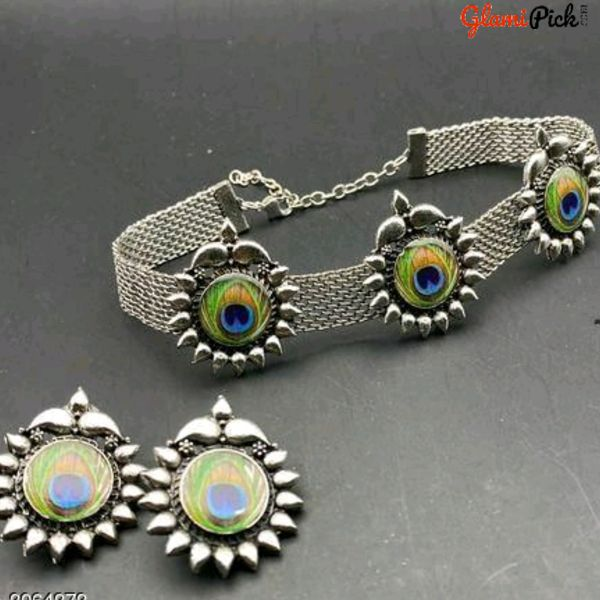 New peacock design Choker necklace set