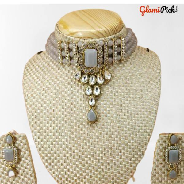 Pearl work Necklace Set