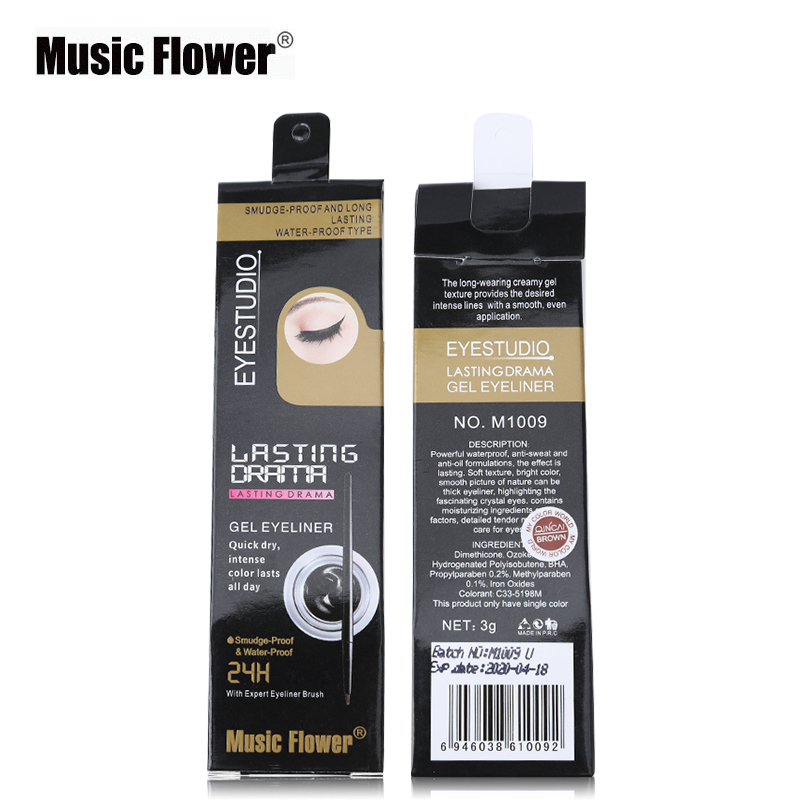 Music Flower Eyeliner Gel Black