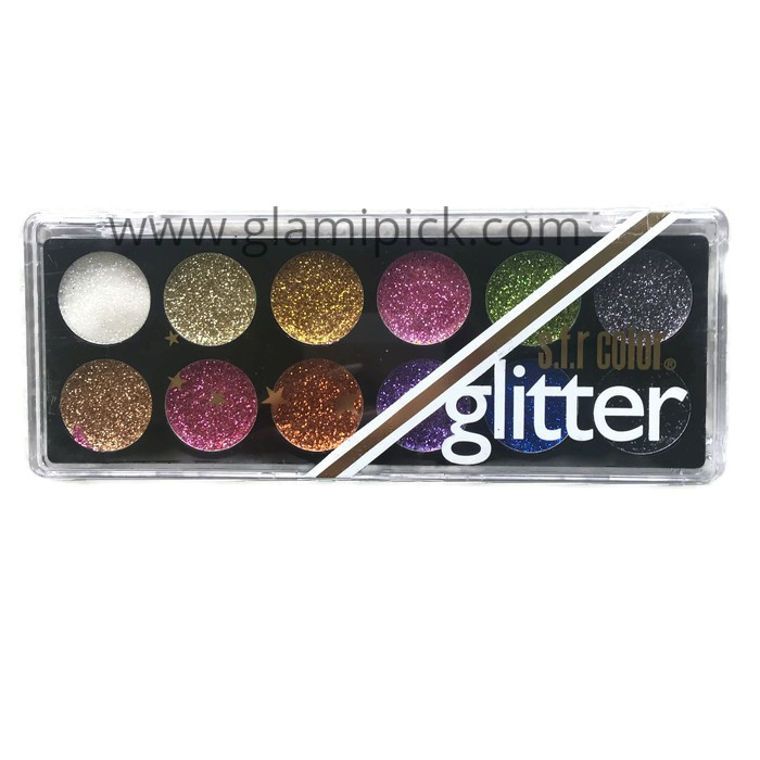Sfr Glitter 12 colour palette- 01