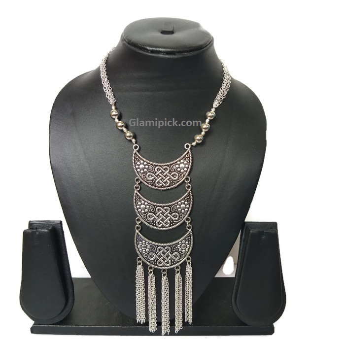 Chandbali three layer necklace
