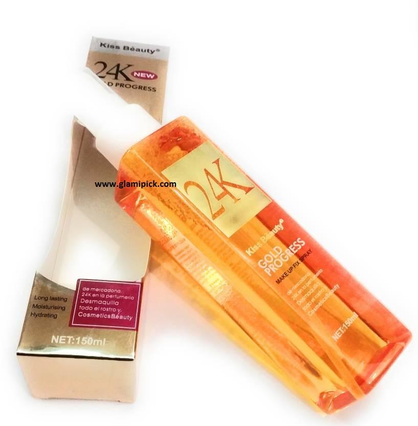 Kiss Beauty 24K Gold Makeup Fixer Spray
