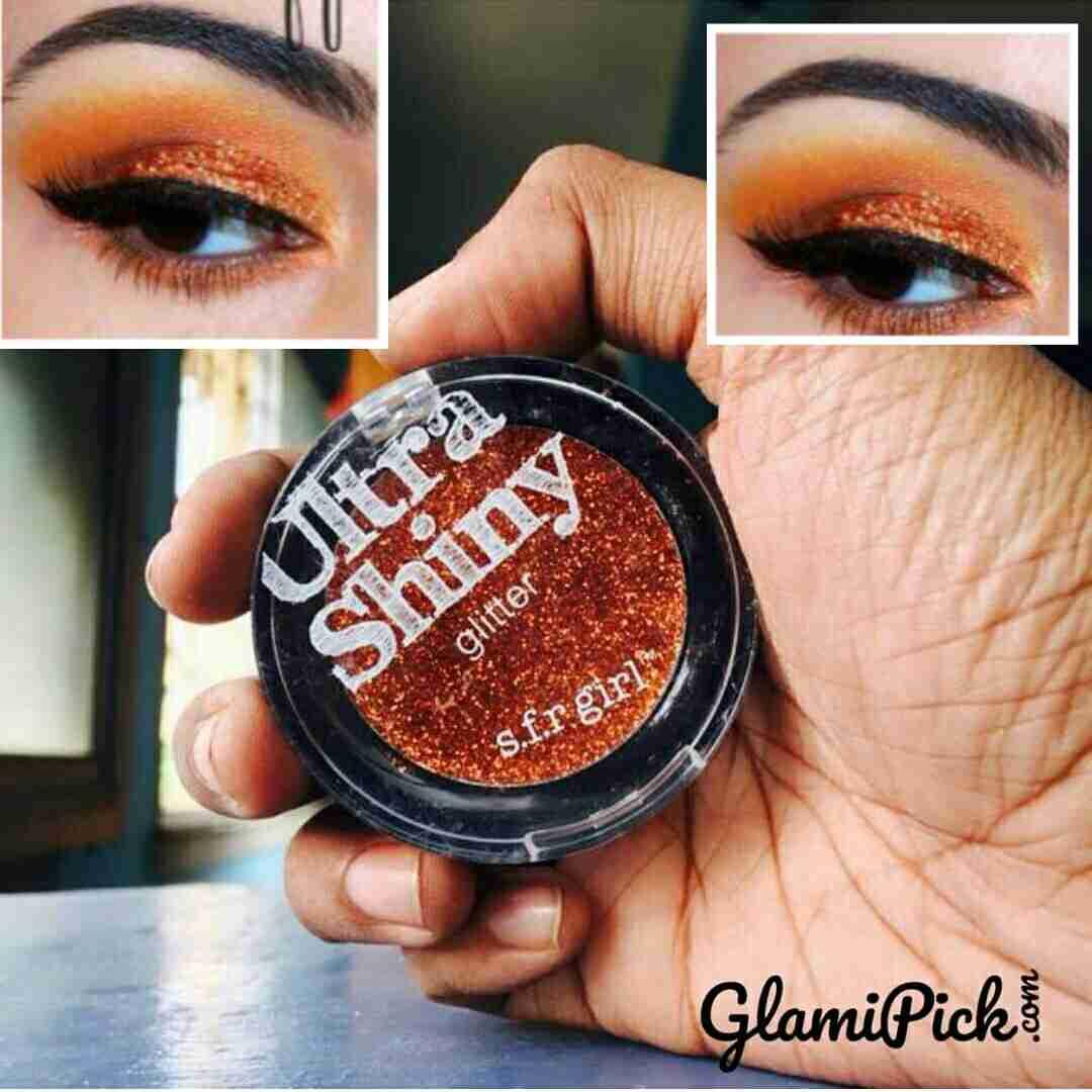 SFR Girl Ultra shinny Glitter Eyeshadow Orange