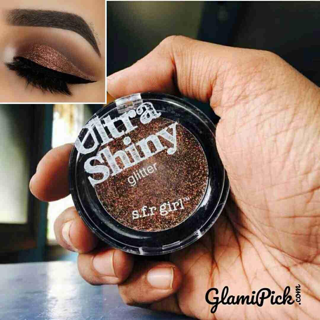 SFR Girl Ultra shinny Glitter Eyeshadow Brown
