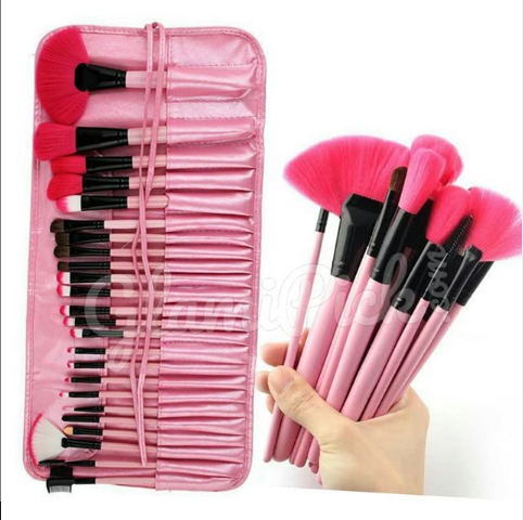 Makeup Brush Set set of 24 (Pink)