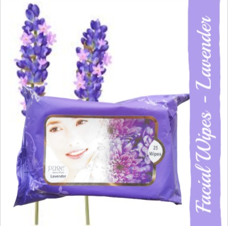 Pure Refreshing Face Wipes - Lavender