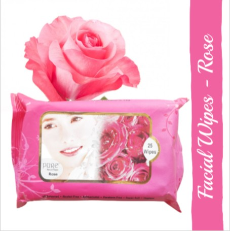 Pure Refreshing Face Wipes - Rose