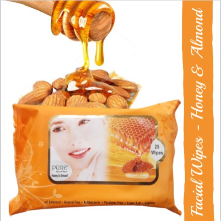 Pure Refreshing Face Wipes - Honey Almond