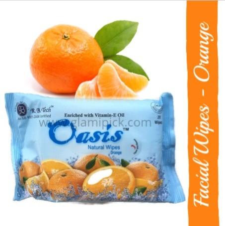 Oasis natural wipes - Orange