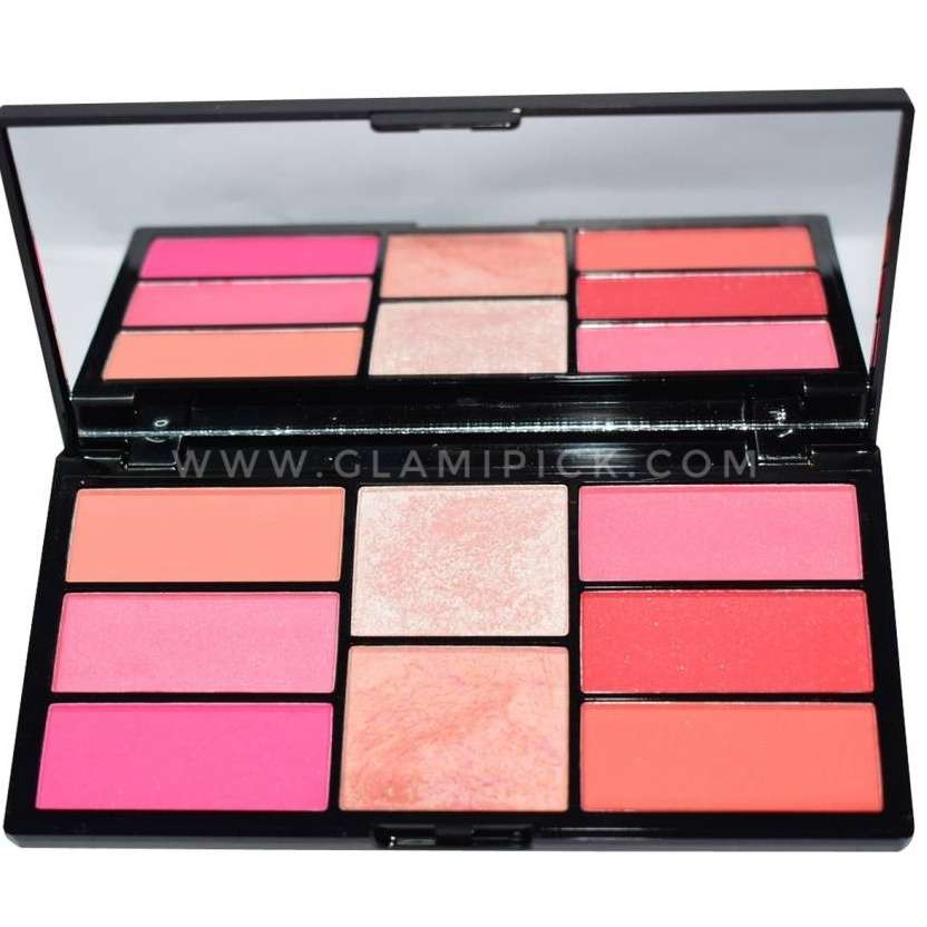 Swiss Beauty Pro Blusher and Highlighter 8 Blush and Highlight Powder In Palette