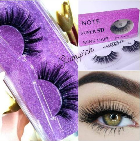 3D Mink hair fake Eyelashes - Pink