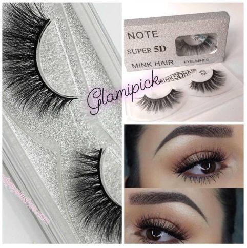 3D Mink hair fake Eyelashes - Silver