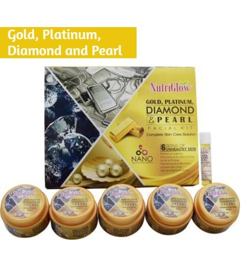 NutriGlow Gold, Platinum, Diamond and Pearl Facial Kit