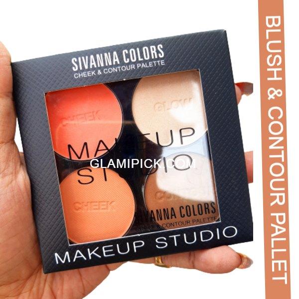 Sivanna Color cheek & contour Pallet - C