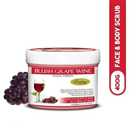 Luster Blush Grape Wine Face & Body Scrub