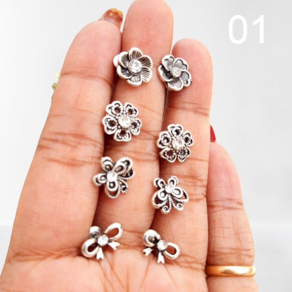 Earrings set of 4 Pair