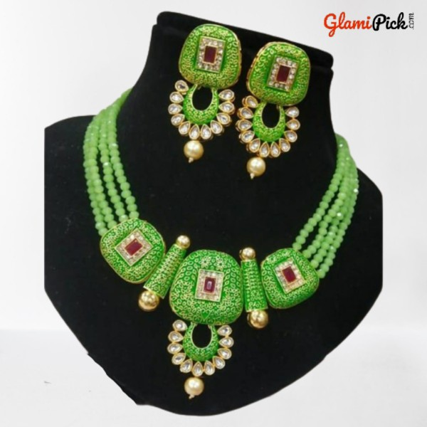 Enamal beads Necklace Set