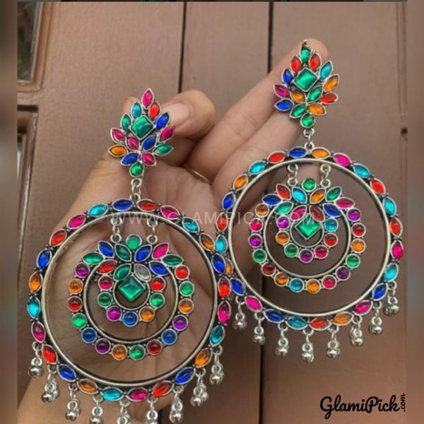 Earrings Multi Color Bids c Bids