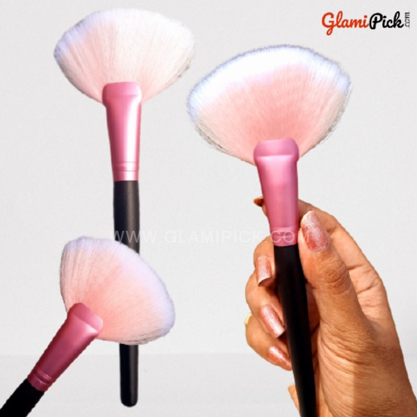 Pink Fan Brush