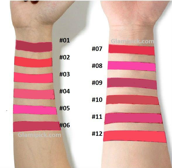 Kiss Beauty velvet matte lipgloss - 12