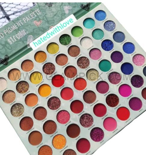 SFR COLOR hated with Love 63 Color Pressed Pigment Eyeshadow Palette