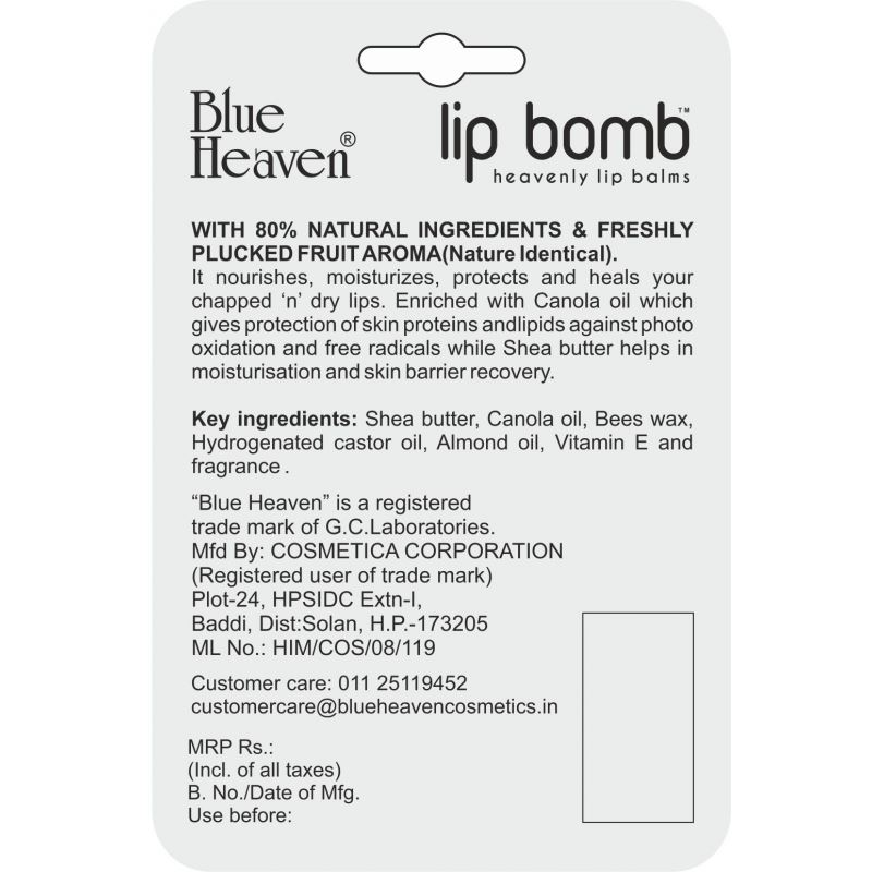 Blue Heaven Lip Balm- Bubble Gum