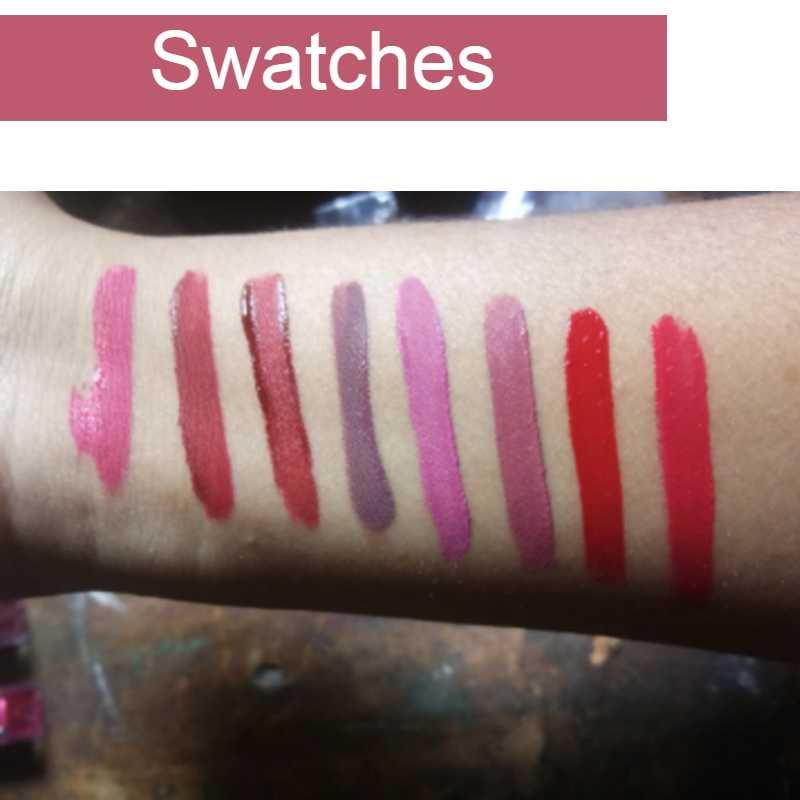 ADS Pro Super Stay Matte Liquid Lipstick Set of 8